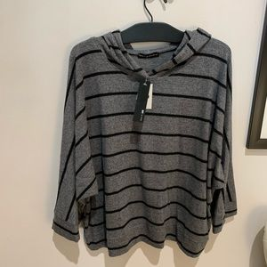 Nally and Millie Striped Grey Hoodie